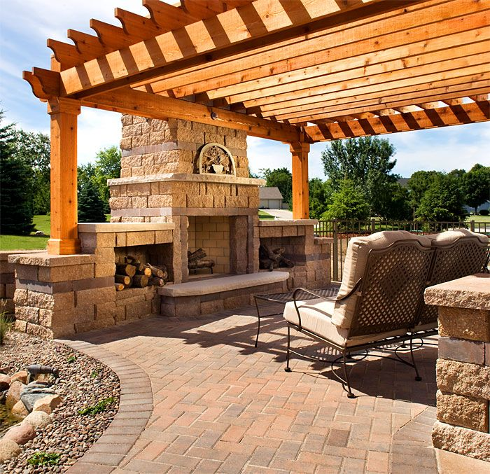 Vision Hardscapes Of Atlanta: We Already Have The Pergola....now It's Time To Put Down A Floor, And Maybe A Fireplace?
