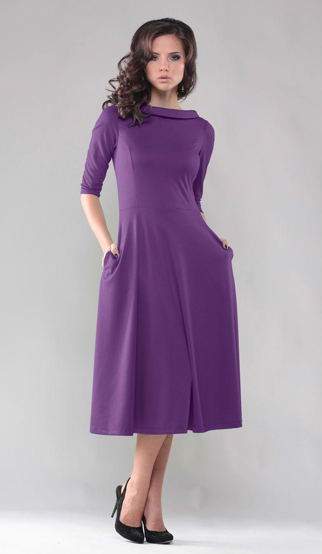 Purple dress. Midi dress. Autumn purple dress. Winter woman dress. Warm clothes.  Wedding dress. Party dresses. Casual dress. by Annaclothing on Etsy https://www.etsy.com/listing/201795646/purple-dress-midi-dress-autumn-purple