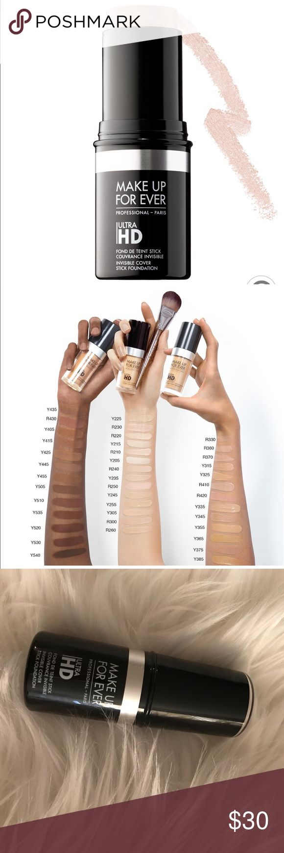 New Makeup Forever Ultra HD Foundation Stick Y205 Product Info on photos taken from Sephora.com. Brand new, never used or swatched. Makeup Forever Makeup Foundation