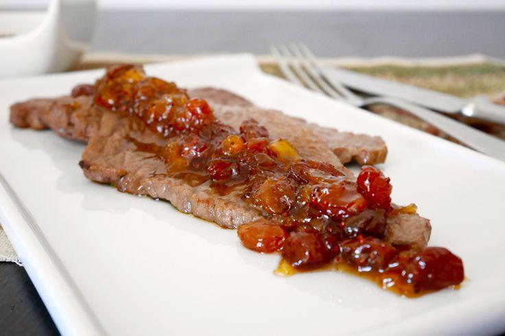 Bistecca di vitello con chutney di pesche | Mastercheffa