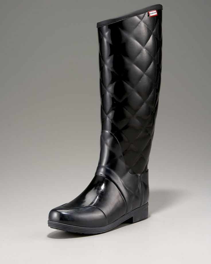 quilted rain boots