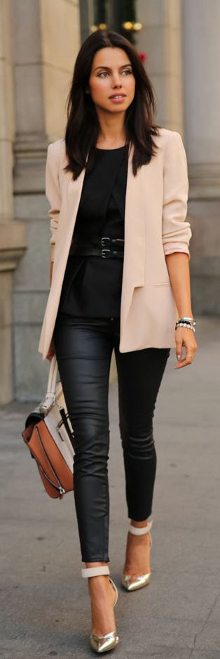 outstanding pink blazer outfit women 2017