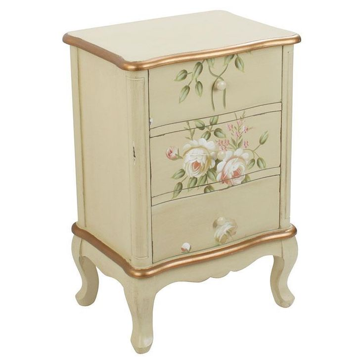 Beautiful wooden #commode! #floral #romantic www.inart.com