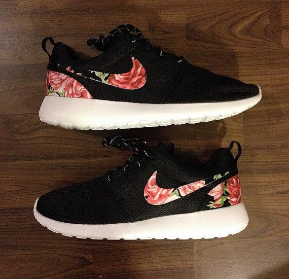 Nike Roshe Run One Black with Custom Pink Red by DenisCustoms