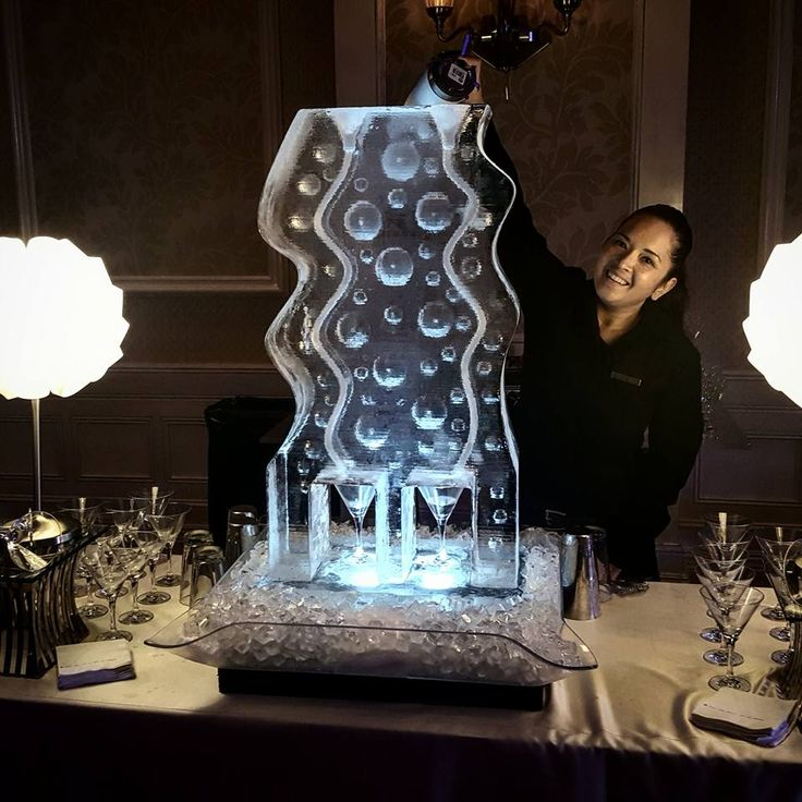 Two track bubble ice luge for a wedding reception. #iceluges