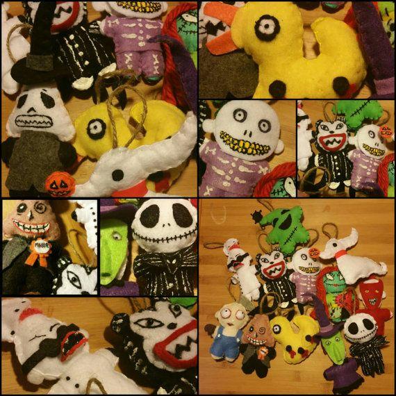 12 Nightmare Before Christmas Ornament Set by TheKawaiiStitchGirl