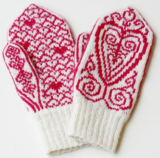 designed by Emmy Petersson from Sweden.   The pattern is available for free on Knitty: http://www.knitty.com/ISSUEwbis11/PATTfreja.phpValentine Day, Fashion Handmade, Diy Fashion, Gift Ideas, Diy Gift, Fashion Diy, Mittens, Valentine Diy, Gift Diy