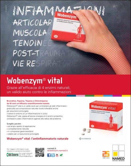 Campagna stampa Wobenzym Vital di Named.