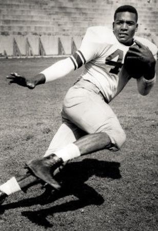 "Nathaniel ""Jim"" Brown ~ Cleveland Browns: (b Feb 17, 1936) American former professional football player & actor. Best known for exceptional record-setting nine-year career as Running Back for NFL Cleveland Browns 1957 to 1965. 2002, named by Sporting News as Greatest Professional Football Player Ever. Widely considered to be one of greatest professional athletes in U.S. history."