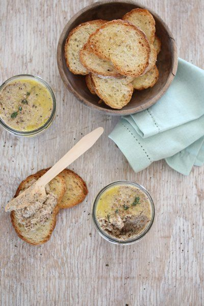 Nouvelle Mushroom and bacon pate!