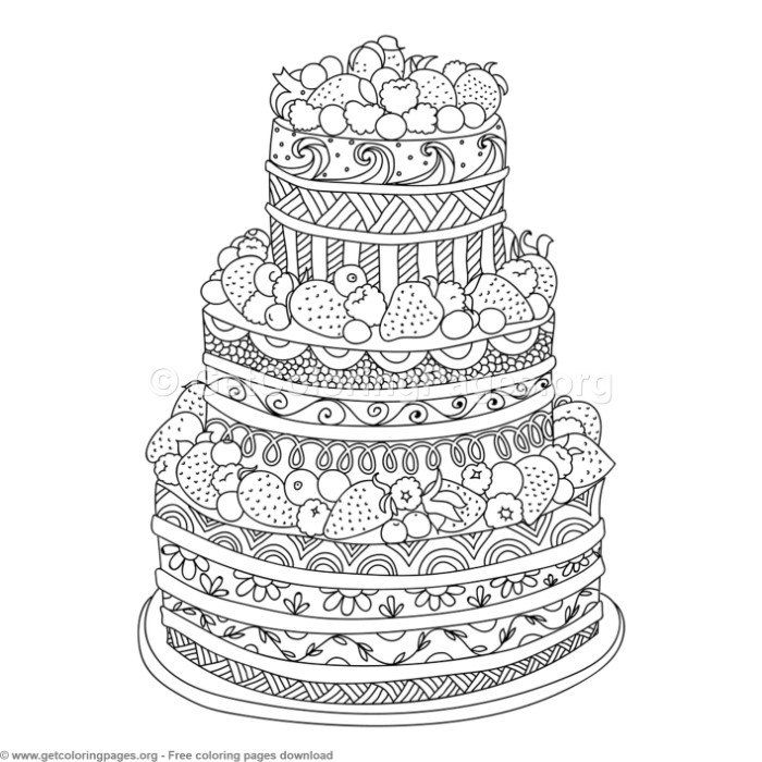 1 Zentangle Doodle Cake Coloring Pages Free Downloads #coloring # Coloringbook #coloringpages #doodle Food Coloring Pages, Coloring Pages, Coloring  Books