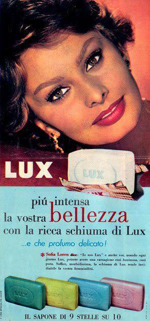 LUX soap | endorsed by Sophia Loren