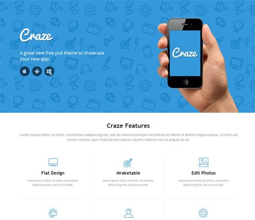 website app template