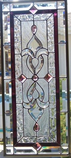 antique glue chip stained glass windows - Google Search