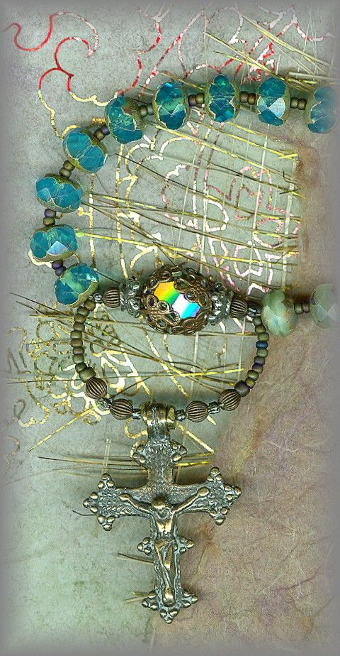"""AN ALMOST FORGOTTEN HYMNAL PRAYER  The 3 x 9 bead """"Angelic Trisagion"""" chaplet is believed to be an ancienthymn, prayed to unite one with the 9 choirs of angels in praise to the Holy Trinity."""