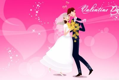 Valentines Day Wedding Wallpaper