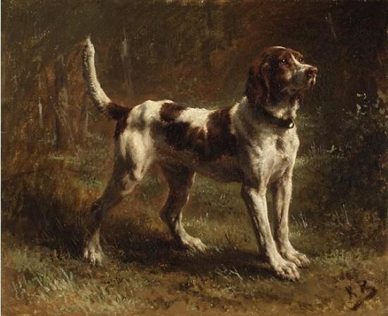 A Limier Briquet Hound Rosa Bonheur oil painting repro hand painted on canvas