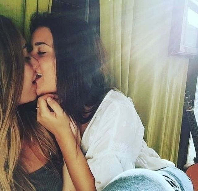 {Ashton and Nicki} It was the weekend before my birthday, and we decided that I would spend the weekend at your house. We had so much fun. Cuddling, watching movies, laughing.. We sit down on your bed, and I kiss your lips.