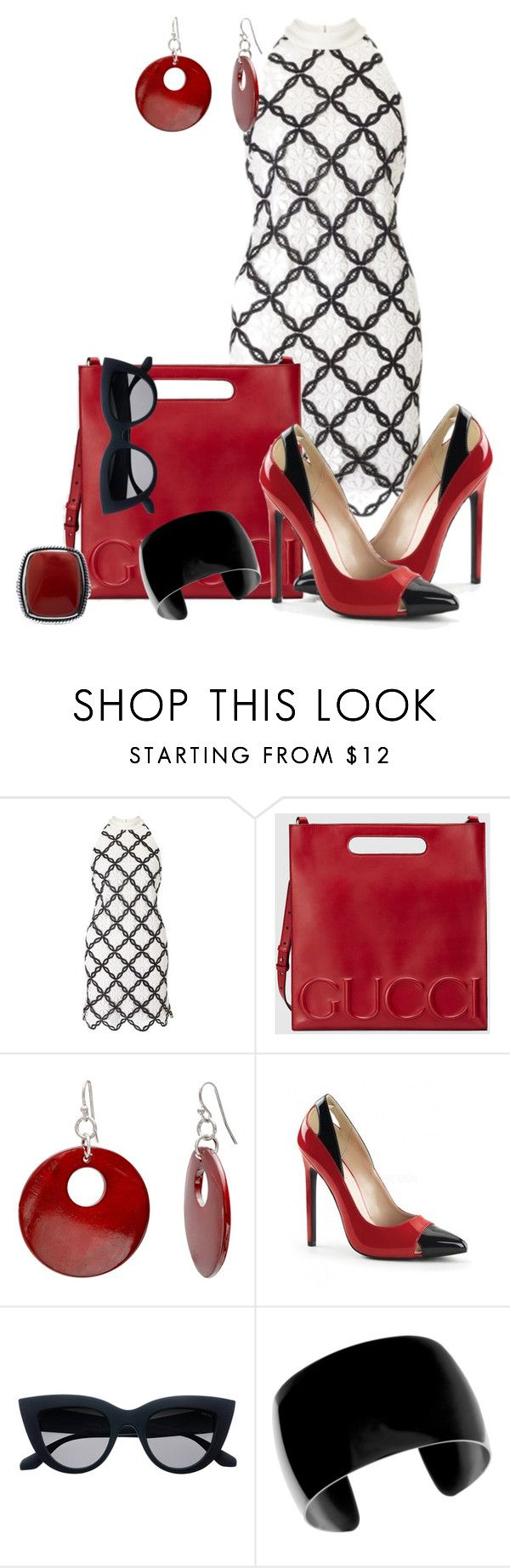 """""""Favorite Outfit Only Dress Set_Reddy for Anything"""" by msmith801 ❤ liked on Polyvore featuring Gucci and Mixit"""