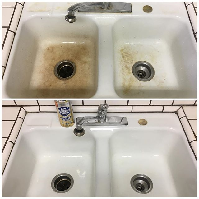 I saw this on Bar Keepers Friend! #BKFBeforeAndAfter @bkfcleanser