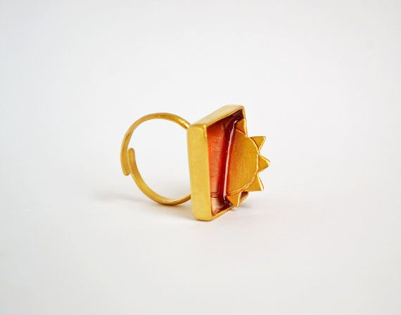 Sunset Ring / Summer In Greece Collection / Setting by Bubblebox