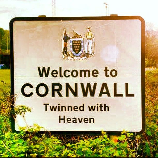 Just for fun.  #Cornwall = heaven.  Says it all! #instagram