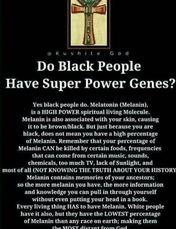 Blacks and the whites are not & will never be equal in the eyes of a Melanin God. Melanin God has always favor Melanin black people in more ways than one over white people. God has created white people curse them by putting them in a cold hearted environment giving them only 25 to 30 something minutes under the light of the sun. But Melanin black people were put in a much more warmer and soothing environment and are bless to go all day under the light of the sun. Doesn't seem equal to me…