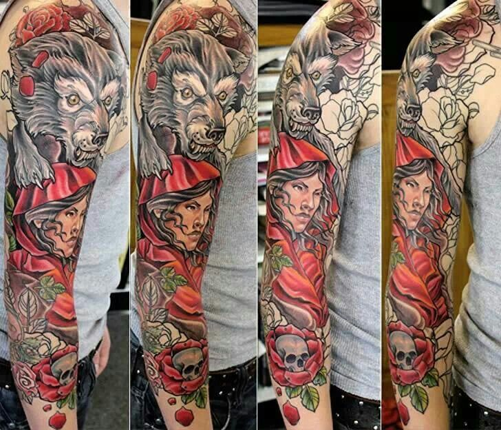 102 Best Red Riding Hood Tattoo Images On Pinterest