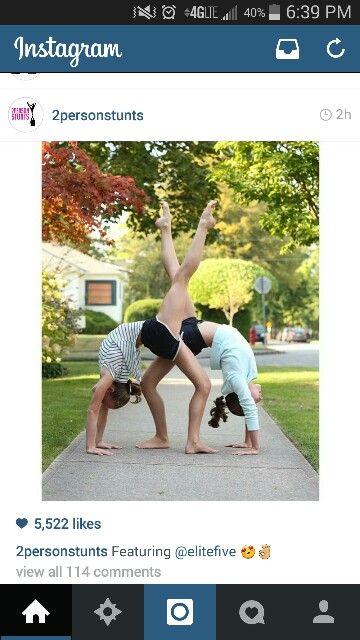 I am loving two person stunts