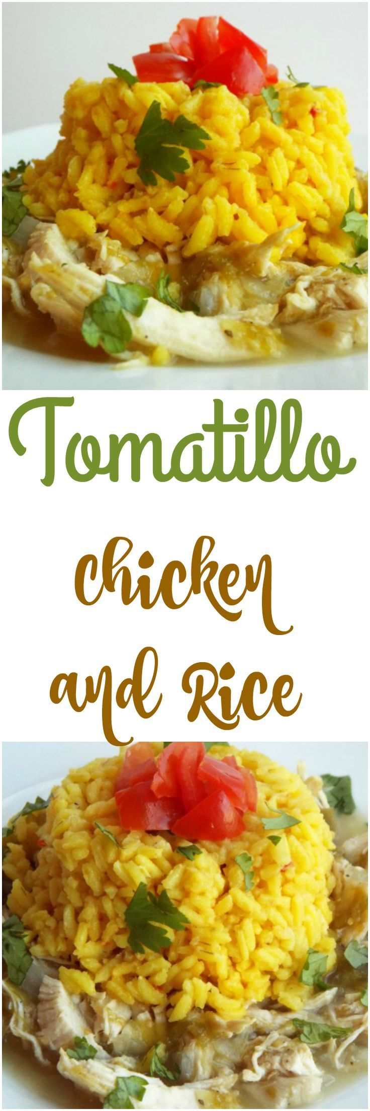 Easy Tomatillo Chicken - Tangy Tart Comfort Food