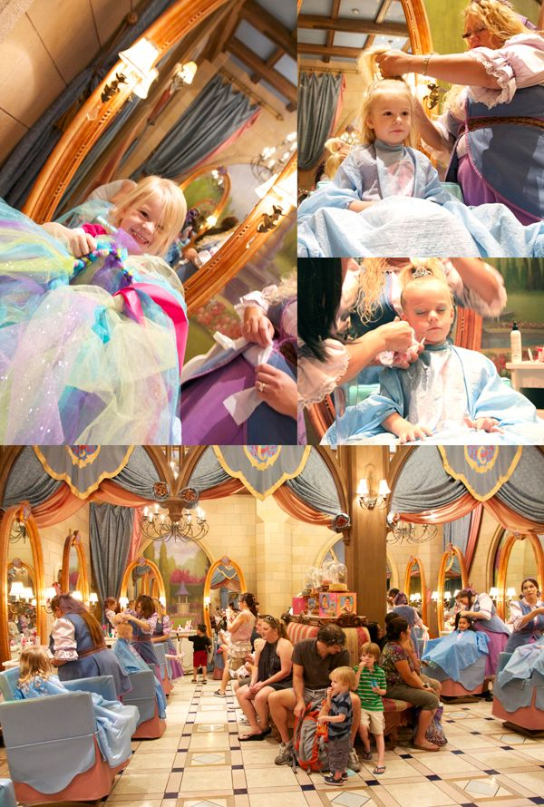 Disney Princess salon. No idea that this even exisited. oh mylanta i just died a little!!