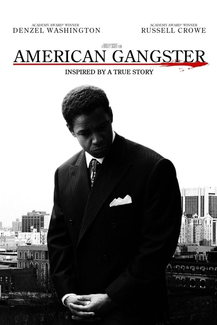 American Gangster - Denzel Washington stars as Harlem drug lord Frank Lucas #GangsterMovie #GansgterFlick