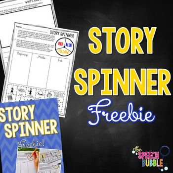 This fun-tactic freebie will have to keep your kids engaged and thinking while working to form proper narratives.  Coloring, cutting, and keep your kids interested while giving them visual supports to write. *How to Use*1.Using a pencil and paper clip, create a spinner using the wheel to the right.