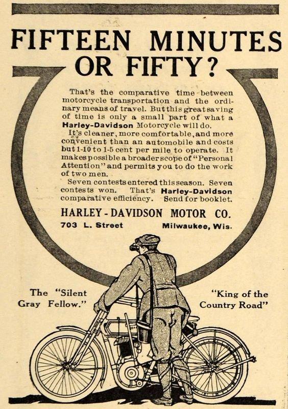 Advertising: 1911 Ad Harley-Davidson Motor Bike Motorcycle Milwaukee Wisconsin Bicycling #Wisconsin #advertising #vintage
