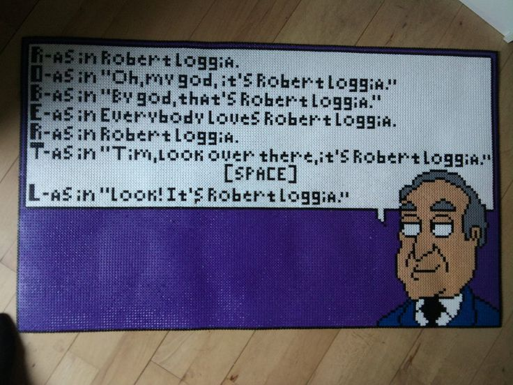 You've got to admire the dedication to using that amount of beads, for what is basically, mostly a massive speach bubble - Robert Loggia by MudredeFoedder #Family_Guy