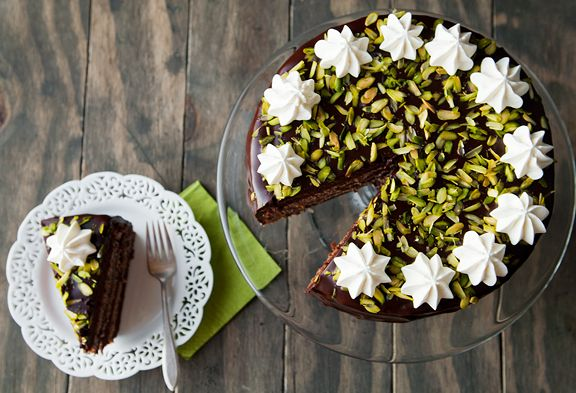 Chocolate cassata cake - a ricotta cheese filling with orange and ...