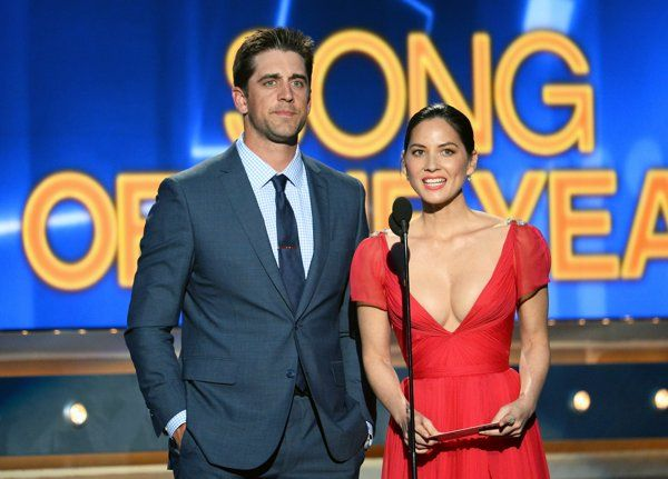 Aaron Rodgers on dating Olivia Munn: 'I'm real happy in my relationship'