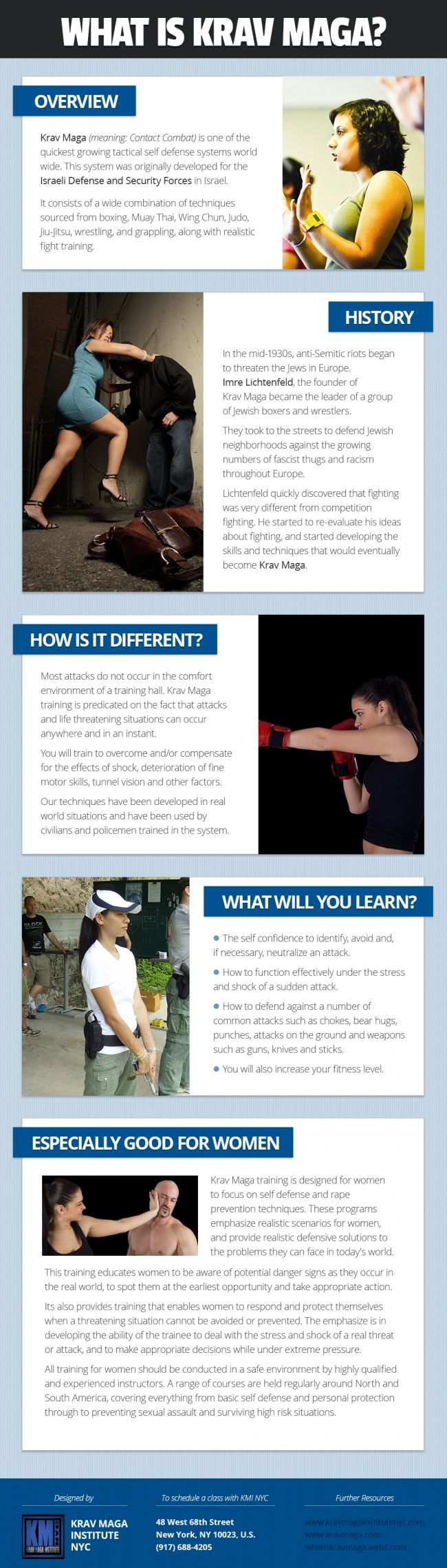 Krav Maga for #women-empower women [infographic]
