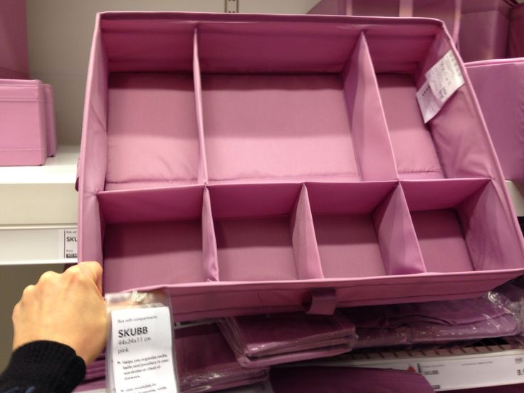 Ikea - pink box with separations