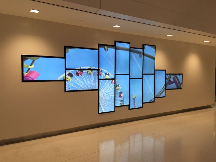 Pin by Lalo Adato on Office designs in 2019  Digital wall