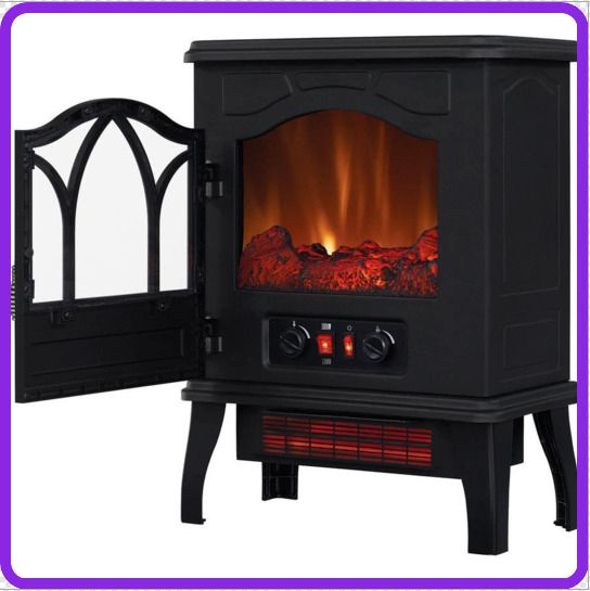 ChimneyFree Electric Infrared Quartz Stove Cozy Heater Black Metal FAST SHIPPING #Generic