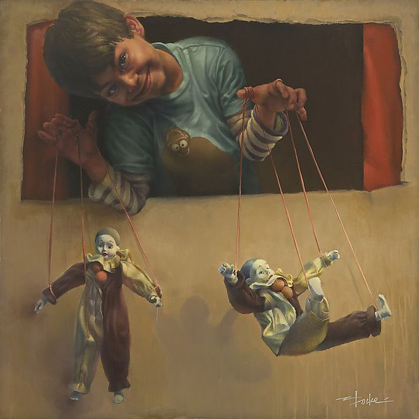'Puppet Show' , made by: Cathy Locke - Oil Painting | Art ...