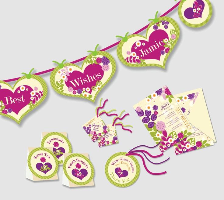 Paper Arts, Party Printables, Invitations, Cards, Tutorials, Recipes: Bridal Shower Decor Printables!
