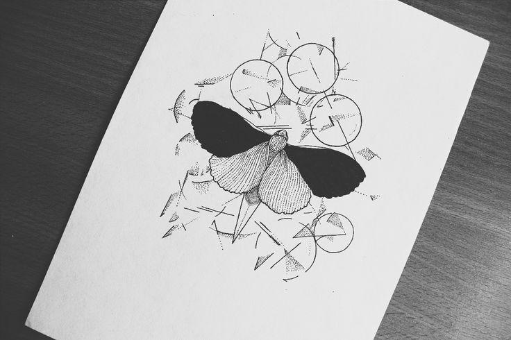 BEHANCE | FACEBOOK | INSTAGRAM | TUMBLR  #dotwork #linework #geometric #geometry #design #moth #art #ink