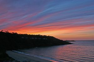 Sunset over Carbis Bay #Cornwall #sunset #sky