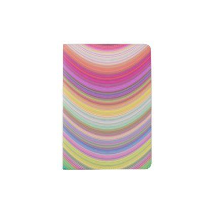 Rainbow Pattern Expression Passport Holder  Pattern Sample Design