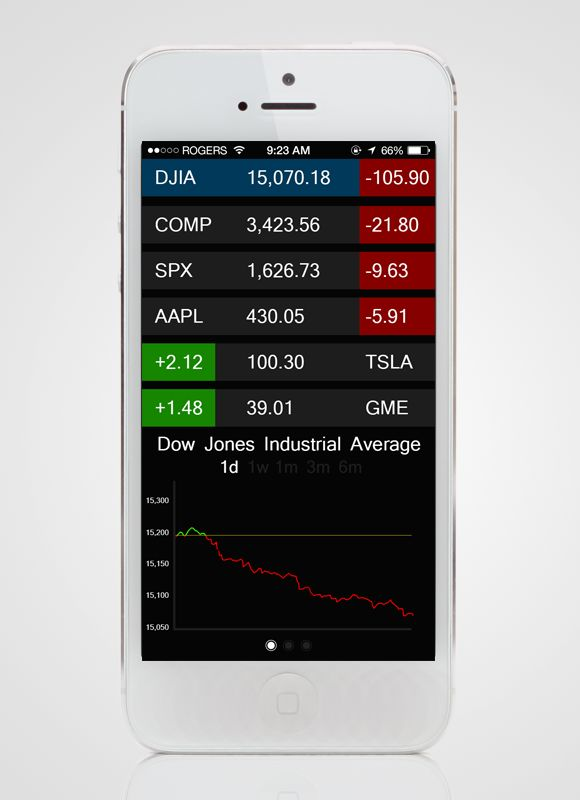 Concept Stock App 1.0 by Nathan McLane  #concept #design #ui #app #iphone #stock #nikhil