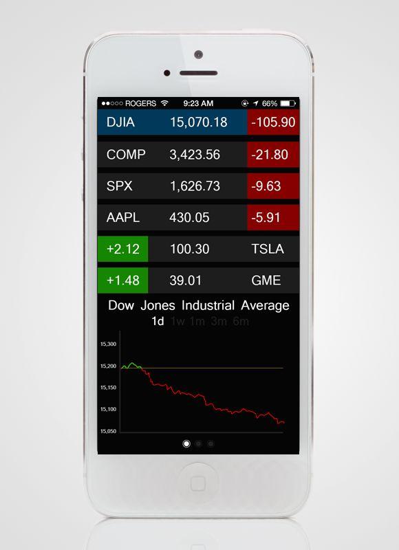 Concept Stock App 1.0 by Nathan McLane  #concept #design #ui #app #iphone #stock #nikhil