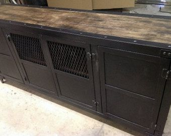 industrial media furniture. industrial media console with tv mounting board 009 door industevo furniture t