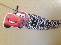 Rayo McQueen bandera bandera de Disney Cars por CuddleBuggParties